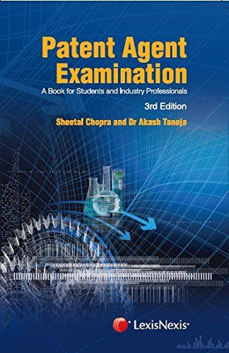 Patent Agent Examination (A Book For Students And Industry Professionals) Check more at http://www.indian-shopping.in/product/patent-agent-examination-a-book-for-students-and-industry-professionals/