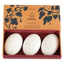 Buy Di Palomo Wild Fig And Grape Cleansing Bars, 3 x 50g Online at johnlewis.com