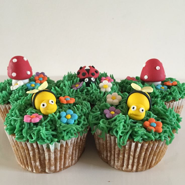 Bugs themed cupcakes