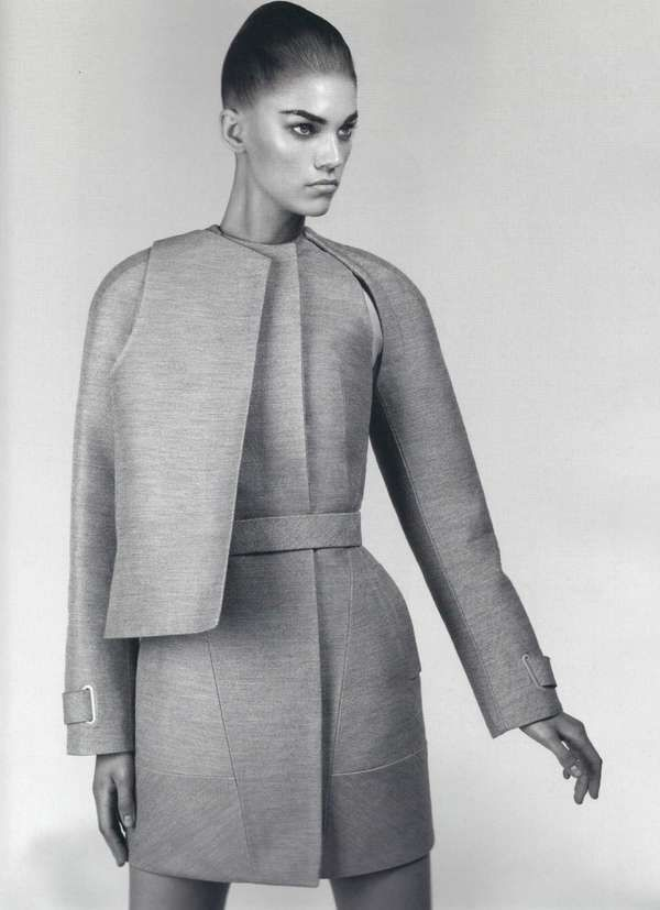 97 Gorgeous Geometric Fashions - From Grand Geometric Gowns to Spiked-Spine Smocks (CLUSTER) geometry, structure, shapes, fashion, designer, inspiration, fashion design