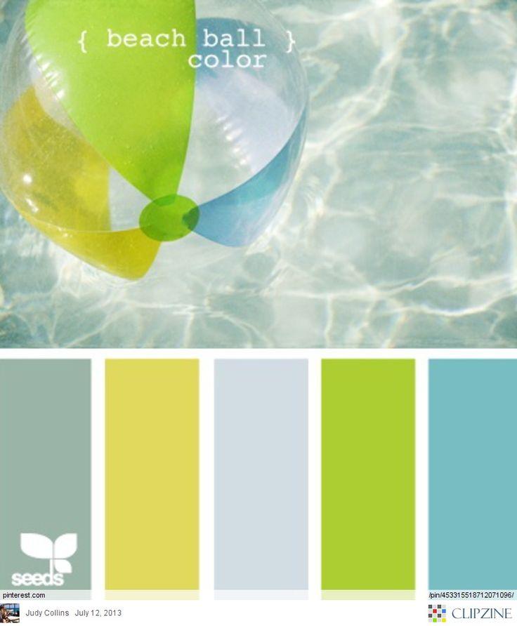 Beach ball hues - fun for a bathroom!