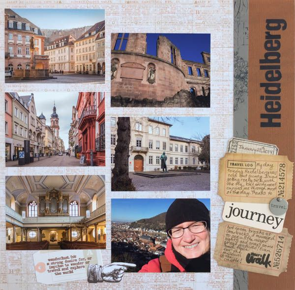 Layout-A-Week: Make a Collage of Mini Photos - Week #14. Travel scrapbook layout. Multi photo layout that is quick and easy!