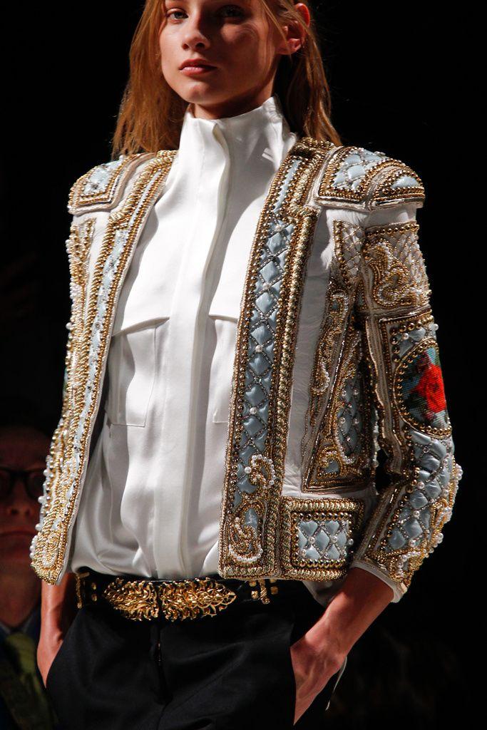 Balmain Autumn Winter 2012-2013 - AW12 - Blue white and golden baroque jacket