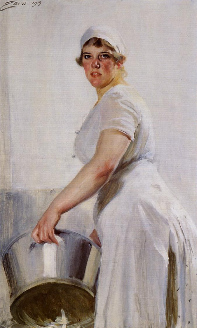 A Kitchen Maid - Anders Zorn