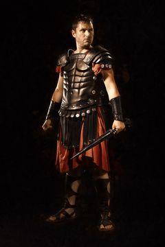 L'armure en cuir de romain est disponible à la location.