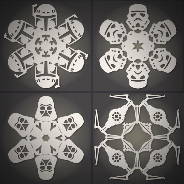 How to: Make DIY Star Wars Snowflakes (Free Templates)