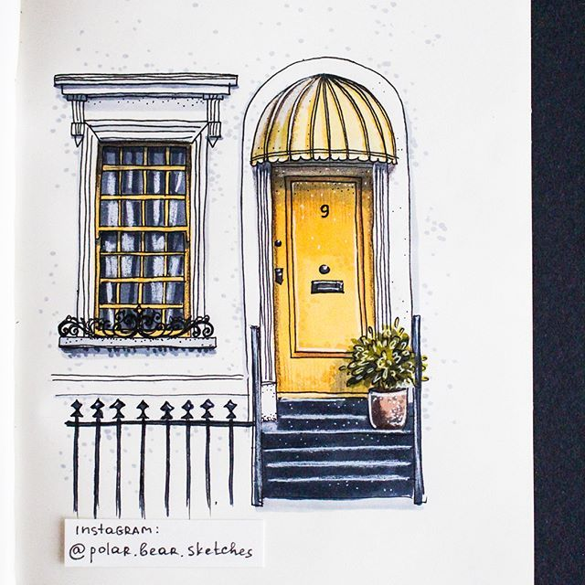 Today is about yellow  such a wonderful color for a front door! #yellow