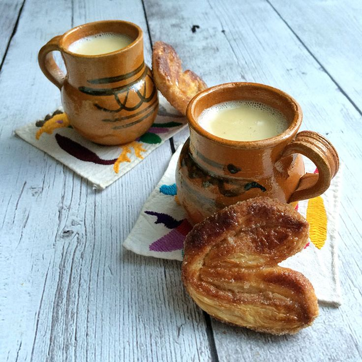 Atole de vainilla is a traditional masa-based hot beverage, popular during the holidays, and made with milk, piloncillo, vanilla bean and Mexican cinnamon.