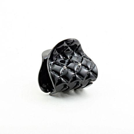 Mini pince crabe bijou de cheveux verni noir avec cristal de swarovski Fabrication FRANCAISE