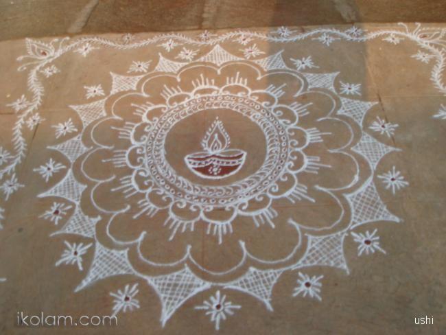 Rangoli Deepavali 2012 diwali | www.iKolam.com