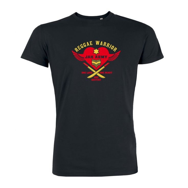 Jah Army Reggae Warrior Tee #reggae #rasta #clothing #fashion #dancehall https://www.rudestylz.de/reggae-warrior-tee