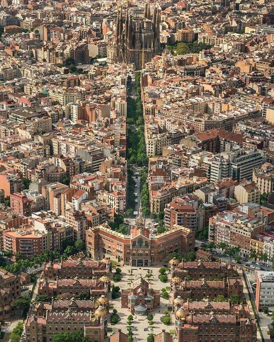 Hospital de la Santa Creu i Sant Pau, Barcelona, Spain - Lluís Domènech i Montaner