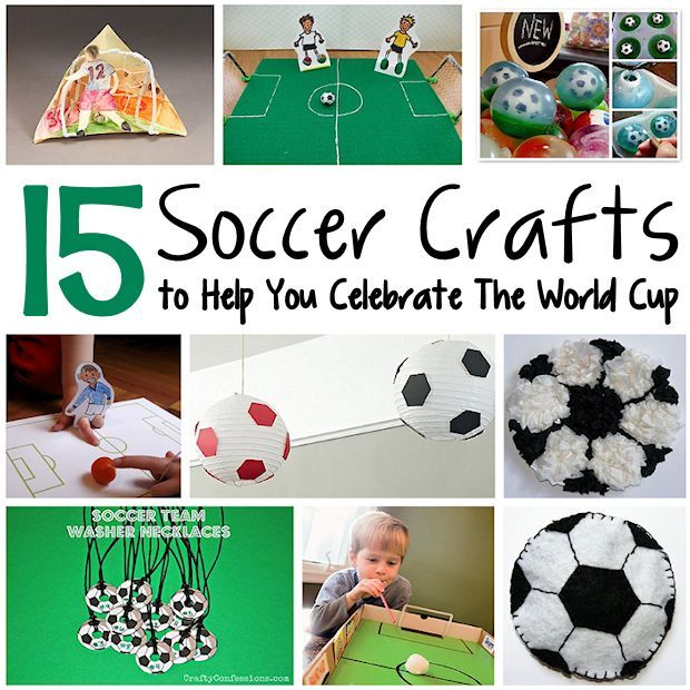 Make some soccer crafts in honor of the World Cup