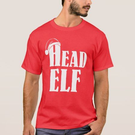 Christmas Head Elf T-Shirt - tap, personalize, buy right now!