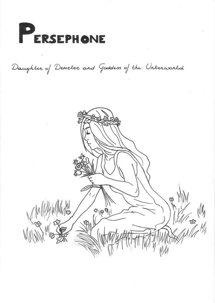 Persephone coloring page Greek God mythology Unit study by LilaTelrunya