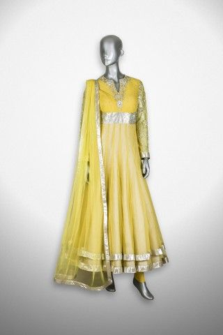 Featuring this beautiful Yellow Anarkali Suit in our wide range of Suits. Grab yourself one Now!