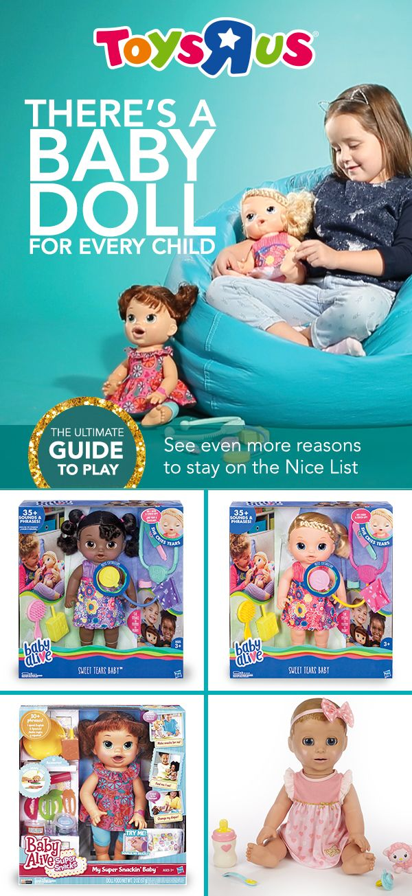 Whether you're giving a baby doll to a natural nurturer or to a child who isn't quite up on baby care, interactive dolls are perfect. When they're in need of play food, sleep or oops!—a diaper change, these dolls will pretty much let kids know exactly what to do!