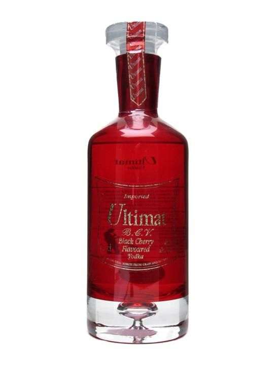 Ultimat black cherry vodka - it is so delicious and pure it would be a sin to mix it with anything!