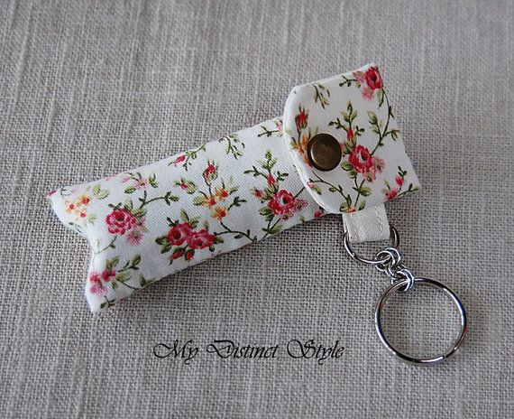 Hey, I found this really awesome Etsy listing at https://www.etsy.com/listing/221942784/fabric-lip-balm-holder-with-keyring-lip