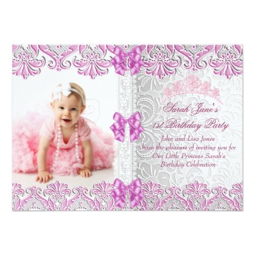 121 best Girls 1st Birthday Party Invitations images – First Birthday Party Invitation Cards