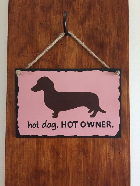 Hot Dog. Hot Owner. Wiener signs Dachshund lover by Yarramalong