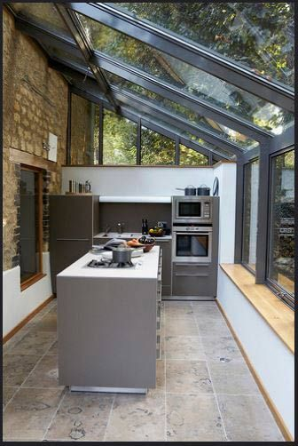 Inside Country Kitchen Extension