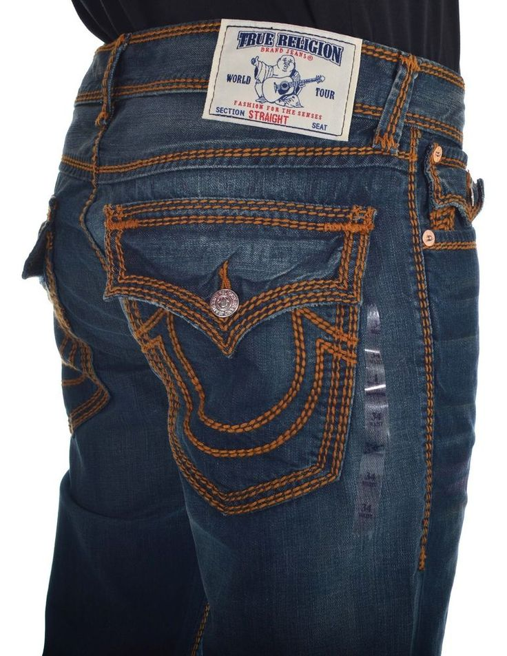 True Religion Mens Jeans Size 36 Straight with Flaps in Devils Post NWT $359 #TrueReligion #ClassicStraightLeg
