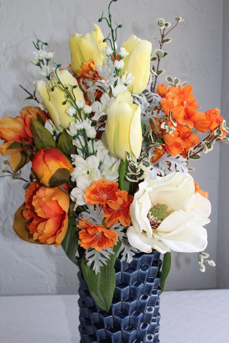 32 Best Silk Flower Centerpieces Images On Pinterest Joanna Gaines