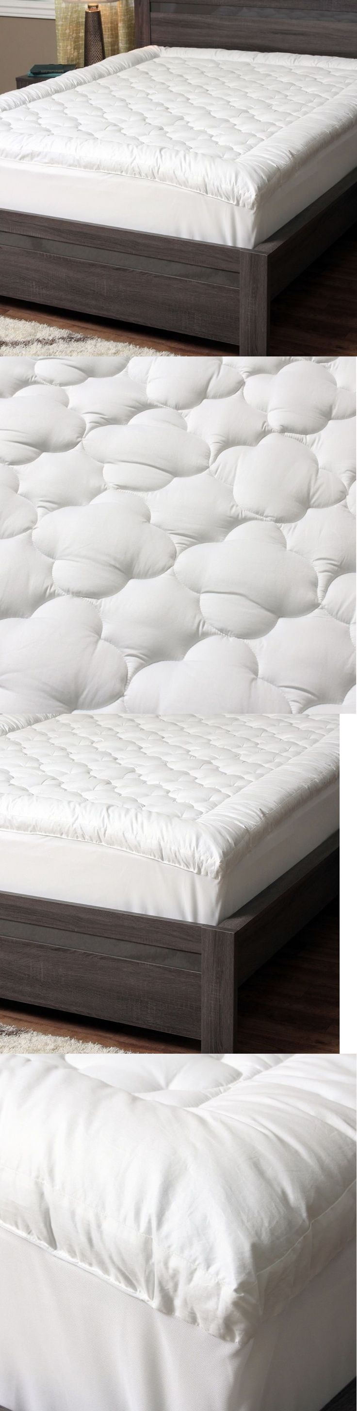 Mattress Pads and Feather Beds 175751: Pillow Top Mattress Topper Queen Size  Pad Hypoallergenic Cover