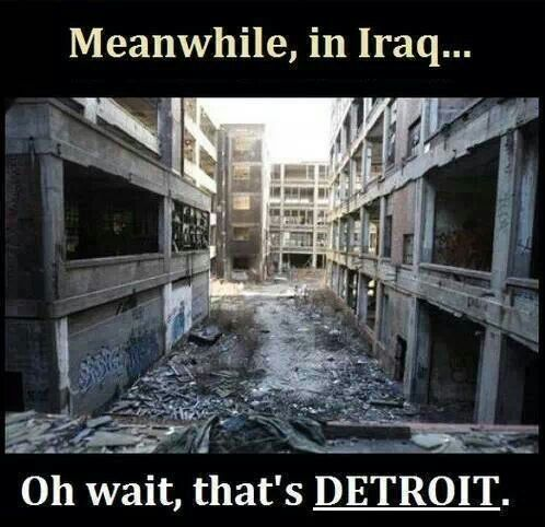 Iraq vs Detroit meme by Welcome to the Internet