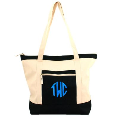 Color Block Tote: Monogram Colorblock, Monogrammed Color, Colors, Beach Bags, Tote Bags, Black, All