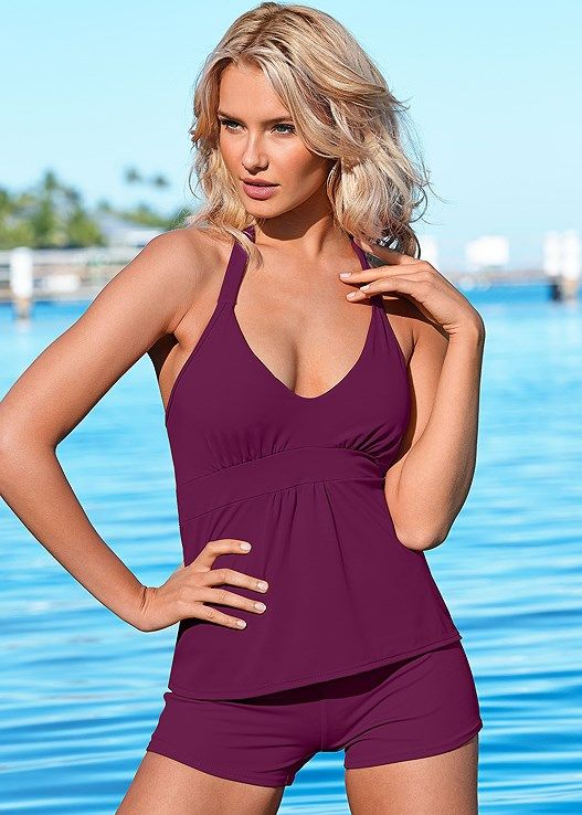 c4ee705c6b5f5 Siren tankini top in 2019 | Swim | Bathing suit shorts, Tankini ...