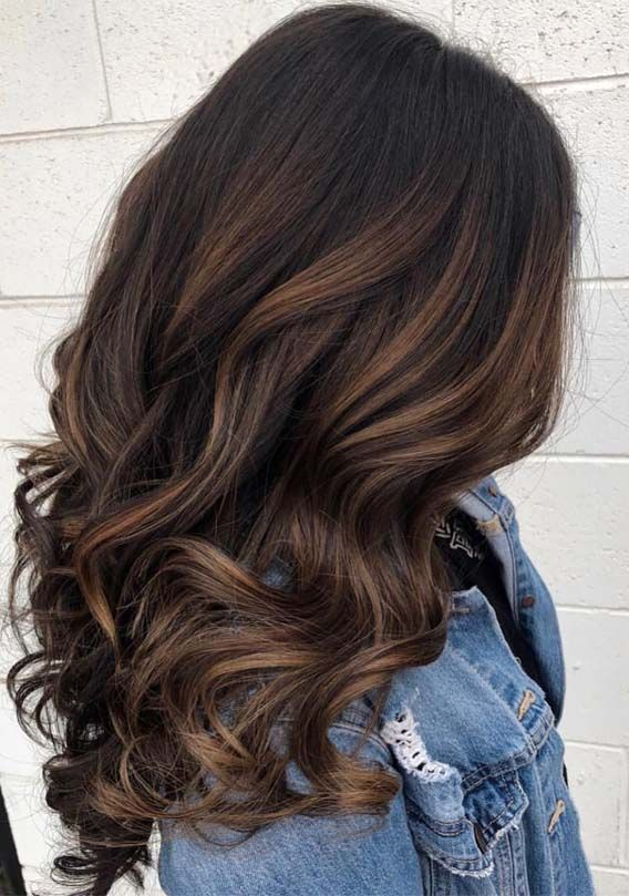 Chocolate Balayage Hair Color Ideas In