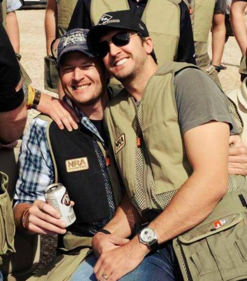 my favorite country men <3 Blake Shelton and Luke Bryan
