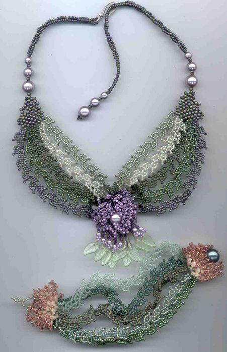 crafty jewelry: beaded flowers.   make handmade, crochet, craft