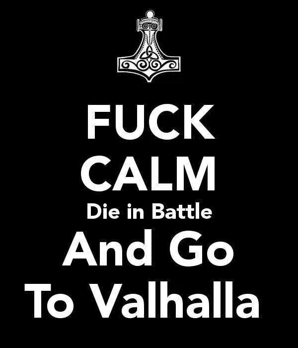 Fuck Calm, Die in Battle And Go To Valhalla (Vikings)