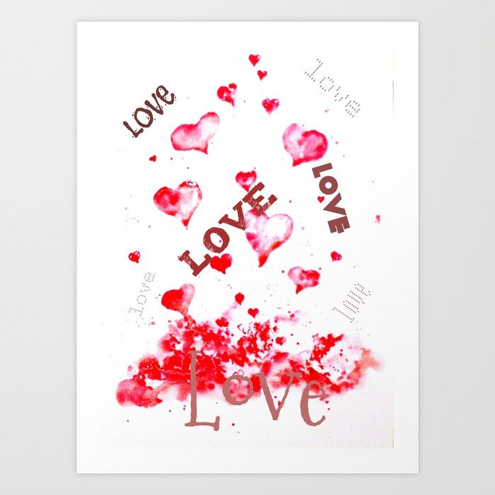 Love is all around Art Print