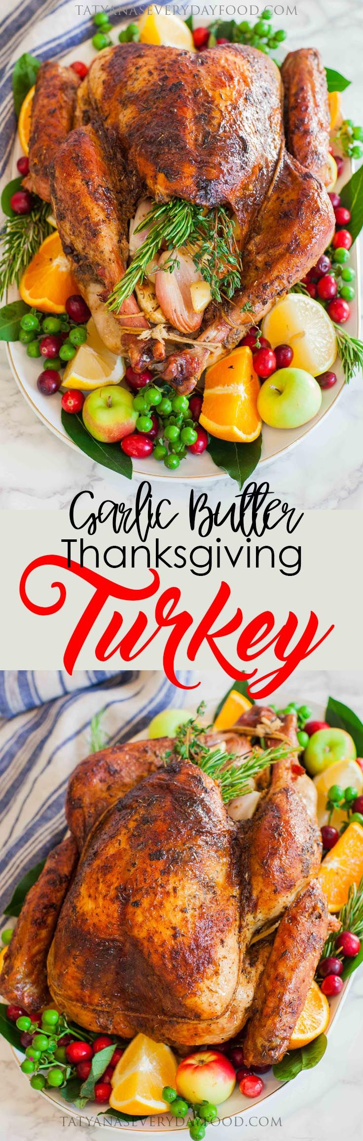 A Thanksgiving or holiday table wouldn't be complete with a big ol' juicy and flavorful turkey at the center! This easy, no-fail Thanksgiving turkey recipe will knock your socks off, and be the best turkey you'll ever serve! The secret to this juicy and aromatic turkey is butter, and lots of it! I season the […]