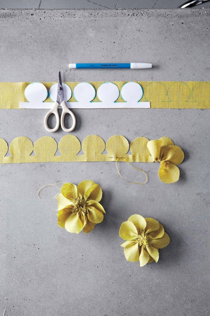 fabric flower tutorial: tutorial flor de tecido **mark b gone - marca da caneta de marcação (aereosolúvel)