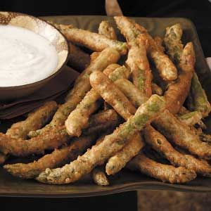 Fried Asparagus Recipe. Disguise a wonderful food for even the pickiest eaters. Mmm good.