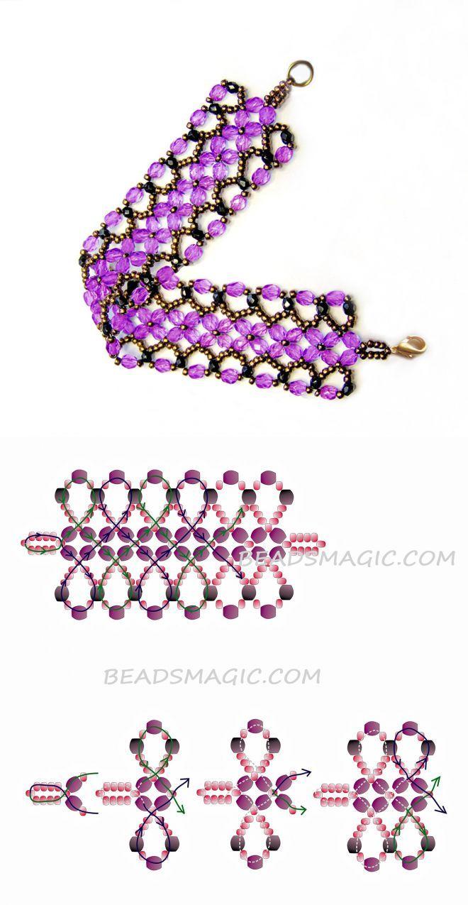 Free pattern for bracelet Harper | Beads Magic
