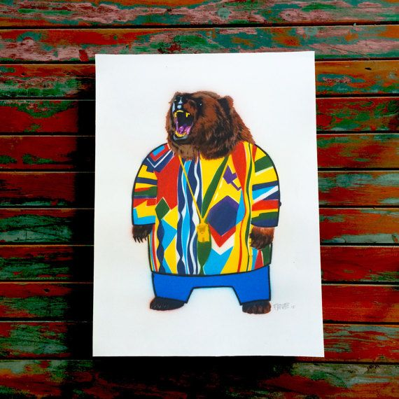 #Biggie bear  A music legend who pioneered the infamous rap genre can finally now be celebrated as the ferocious grizzly we all knew he could be. #Biggiesmalls, #notorious b.i.g., #biggie is now a #bear in a #painting  Hand painted using a boat load of sublime colors in the premium MTN aerosol range.  From #rindamill