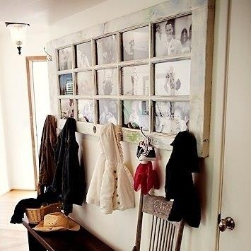 Antique Door...photo gallery & coat rack!