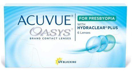 Johnson & Johnson Lentes de contacto bifocales Acuvue Oasys para Presbyopia (presbicia)