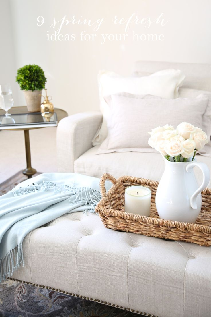And black and white means your home office style is longer lasting - A Simple Spring Refresh 8 Ways To Update Your Home
