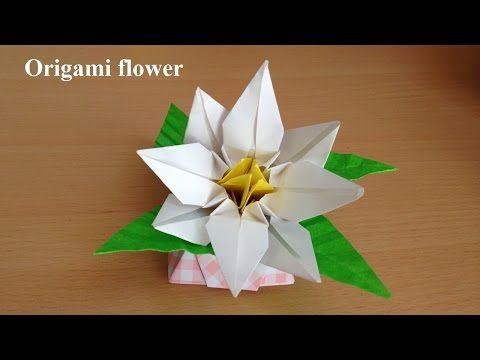 折り紙の花 あじさい2 立体 折り方(niceno1)Origami flower Hydrangea 3D - YouTube
