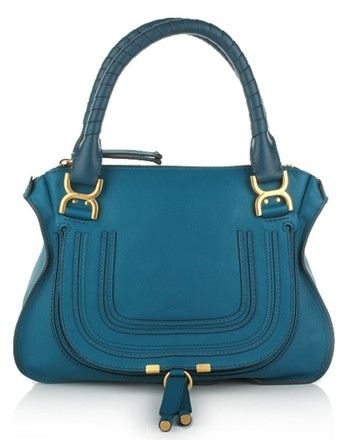 12d5276416ce Save 49% on the Chlo Marcie Medium Laguna Blue Calfskin Leather Satchel!  This satchel is a top 10 member favorite on Tradesy.