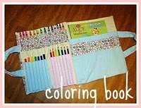 coloring book and pencils might help: Sewing, Glue Guns, Colors Book, Gift Ideas, Book Holders, Crayons Rolls, Crayons Holders, Coloring, Crafts