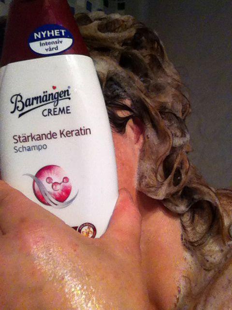 Test av barnängen shampo med stärkande keratin #barnängen #smartson.