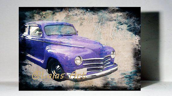 Vintage Retro Style Art Old-timer Vintage by LalasArtWorld on Etsy